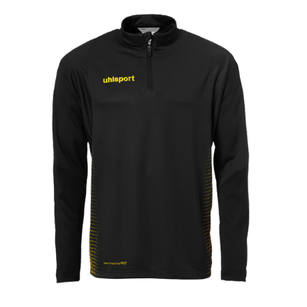 Score 1/4 Zip Top Black / Fluo Yellow